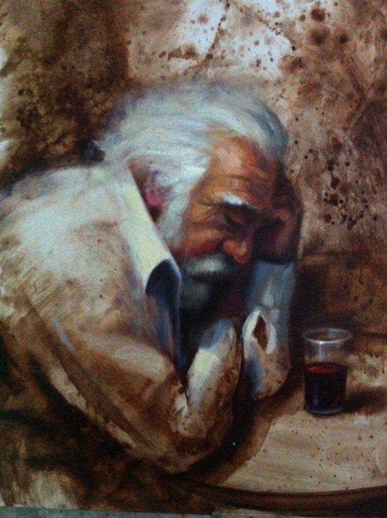 Muskarac okom slikara. - Page 2 A-Man-Drinking-Wine-Painting-765x1024