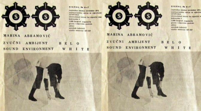 Марина Абрамовић – сигналисткиња